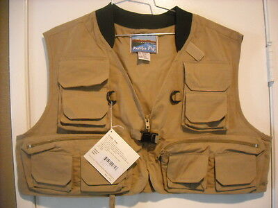Pacific Fly Multi Pocketed Model VG Guide Fly Vest Size Large