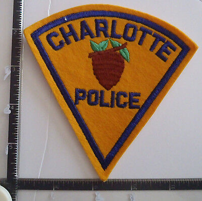 Charlotte NC Felt POLICE Patch NORTH CAROLINA older Might be a Repro ??