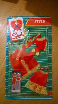 Sindy Doll Clothes.. RARE RED RAVER.. in packet .. Vintage