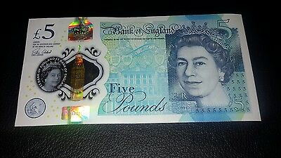 New Polymer 5 Pound Note £5 Aa14191818  Low Serial Number