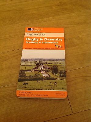Rugby & Daventry Southam & Lutterworth 1999 Ordnance Survey Explorer Maps 222