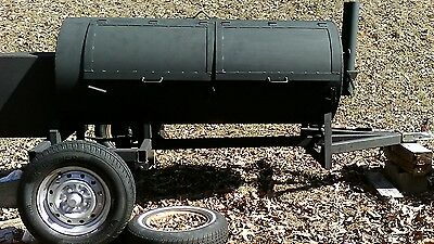 custom built bbq smoker trailor, bbg grill with fire pit