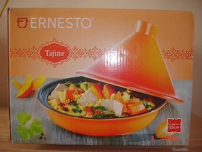 ERNESTO Tajine Traditional Moroccan Cookware  Made From Glazed Stoneware 25cm