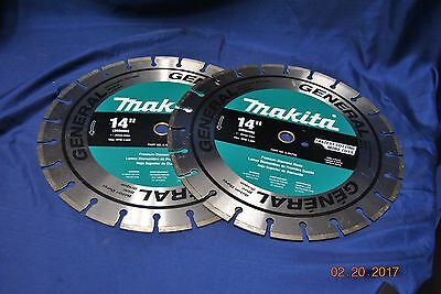 "Makita 14"" General Concrete Blade A-94736 Two Pack"