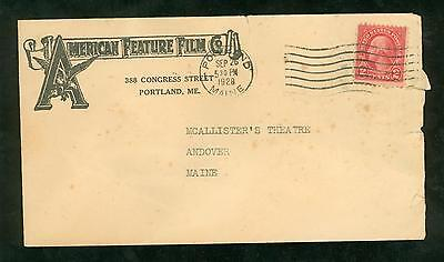 Advertising Cover American Film Co. Portland, ME 1928