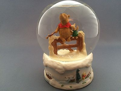 Border Fine Arts Studios Winnie The Pooh Snow Globe The More it Snows.