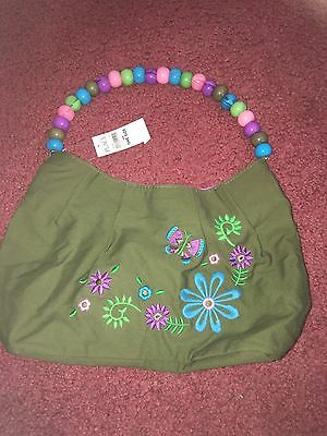 Girls The children's Place Purse Green With Flowers NWT