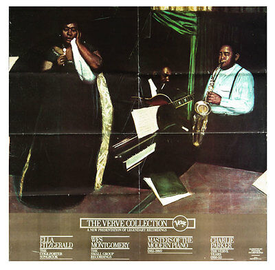 Ella Fitzgerald Wes Montgomery Charlie Parker The Verve Records 1976 Poster