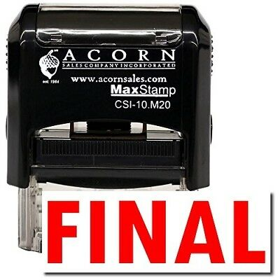 MaxStamp - Self-Inking Final Stamp (Black Ink)