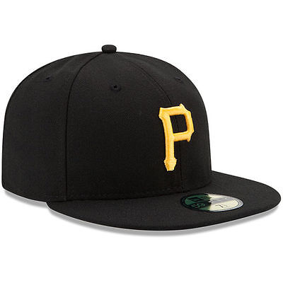 PITTSBURGH PIRATES Game New Era 5950 On Field Cap Black MLB Baseball Fitted Hat