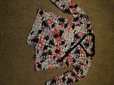 River Island Flowered Long Sleeve Top Size 11 Years