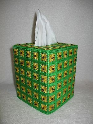 Black-eyed Susan Tissue Box Cover Plastic Canvas Handmade Black eyed Susan