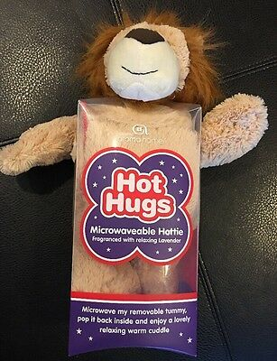 Aroma Home Hot Hugs Microwaveable Plush Lion Fragranced w/Lavender Warm Cuddle