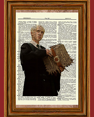 Draco Malfoy Dictionary Art Print Picture Poster Harry Potter Tom Felton