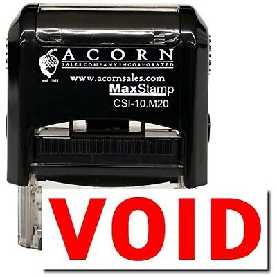 MaxStamp - Self-Inking Void Stamp (Black Ink)