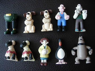10 WALLACE & GROMIT CHARACTERS - VINTAGE 1990s -