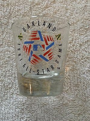 1987 MLB ALL-STAR GAME Oakland A's  Shot Glass  *FREE SHIPPING*