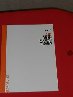 2015 NIKE Annual Report and Notice of Annual Meeting