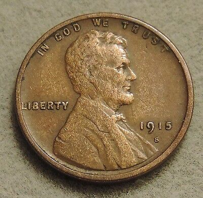 1915 S Lincoln Wheat Cent Penny - Semi Key Date