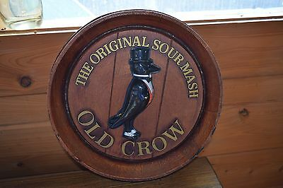 The Original Sour Mash Old Crow Est.1835 Barrol Wood Looking Advertising Sign