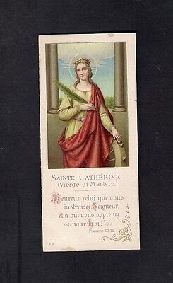 Antique Holy Card ** S. Catherine **
