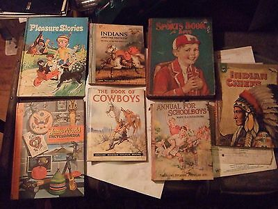 INDIANS AND THE OLD WEST,1958 & 6 Other VINTAGE HARDBACK  Children's Books