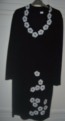 size 14/16black knitted dress/long sleeves
