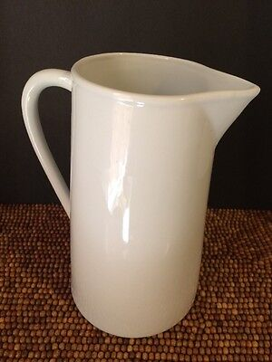 "Cordon Bleu BIA Porcelain White Water Drink STRAIGHT PITCHER 8"" t 1.5 qt 6 cups"