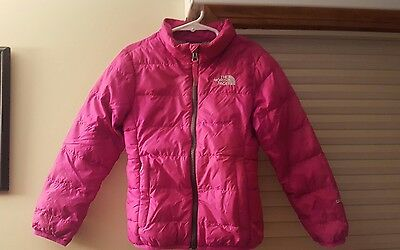 North Face Girls Pink Jacket Aconcagua 550 Down Filled Puffer Size XXS 5