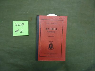 Red Book 100 - Material - Field Artillery School Gun 1937 Manual