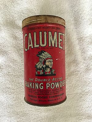 Vintage-Advertising-Spice-Tin-Can-CALUMET-Indian-BAKING-POWDER-Empty