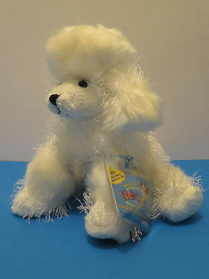 GANZ WEBKINZ POODLE - White with Unused code tag HM014 NEW!