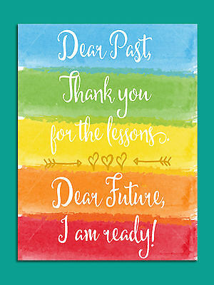 Metal Sign shabby chic style colourful motivational quote tin wall door plaque