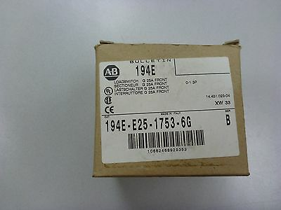 *used* 194E-E25-1753-66 / Allen-Bradley Load Switch, 32A, 3-Pole