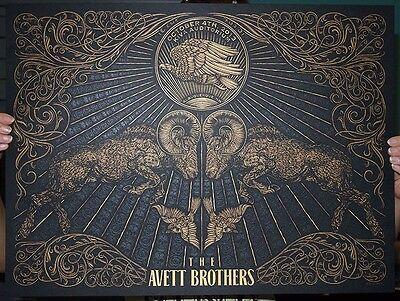 The Avett Brothers 2013 Albuquerque NM Poster Numbered #/200 Rare!!! Todd Slater