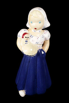 Vintage Lawthorne Robinette Pottery Figurine California Woman Girl W/ Baby Doll