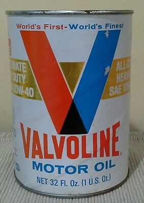 Valvoline Motor Oil Can - unopened