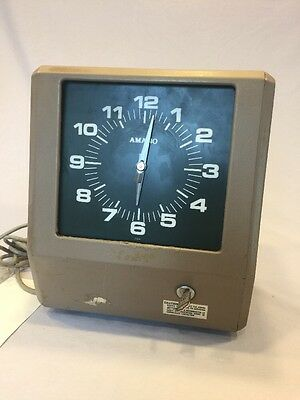 AMANO 6800/6900 ELECTRONIC TIME CARD PUNCH CLOCK *Parts Or Repair*
