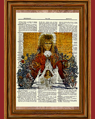 Labyrinth Dictionary Art Print Poster Picture David Bowie Jennifer Connelly