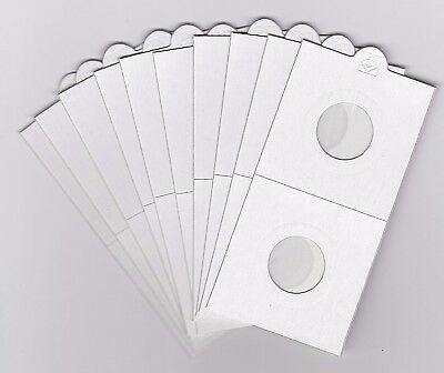 LIGHTHOUSE 20mm SELF ADHESIVE 2 x 2 COIN HOLDERS x 10 - SUIT SIXPENCE or 5 CENTS