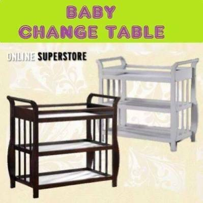 NEW 3 Tier Change Table SLEIGH Baby Nursery Cot Furniture WHITE CHANGETABLE