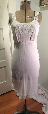 Very Light Pink Vintage Full Slip Silk? With Lace