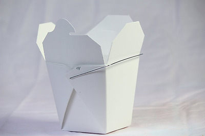 Chinese Take Out Food Boxes: 16 oz. (1 Pint) Lot Of 50 - White