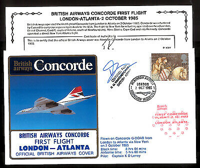 2.10.1985 Ba Concorde Courier R.whitchurch-Bennett Signed Cover~London-Atlanta