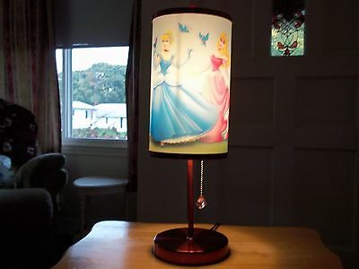 DISNEY PRINCESS LAMP Cinderella Sleeping Beauty Belle Girl Bedroom Lenticular