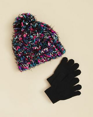 CAPELLI OF NEW YORK $21 NEW 1206 Multi Knit Hat & Gloves 2Pc Set Girls Kids S/M
