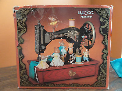 VIDEO Enesco Sew Petite Mice Sewing Machine Animated Music My Favorite Things