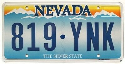 "Nevada ""Sierra Mountains Sunrise"" License Plate 819-YNK, Las Vegas, Reno, Sparks"