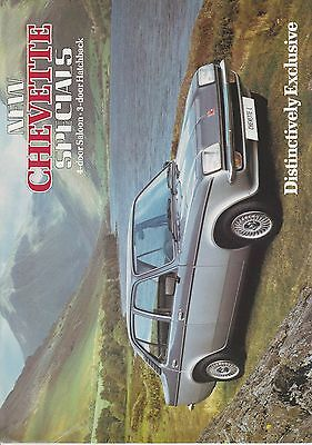 Vauxhall Chevette Specials Brochure October 1981
