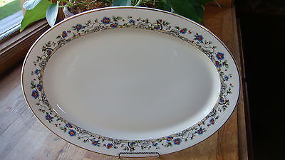 "Vintage/Antiq 14"" Old Ivory Syracuse China Platter Cloisonne Pattern OP Company"
